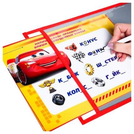 Многоразовая папка с карточками и маркером «Пиши-стирай», Тачка Disney