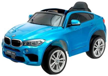 """Электромобиль """"BMW X6M"""", окраска глянец синий, EVA колеса, кожаное сидение Sima-Land"""