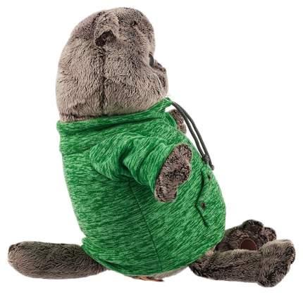 Мягкая игрушка BUDI BASA Басик в зеленой толстовке с карманом-кенгуру, 22 см