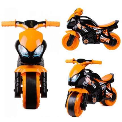 5767 Каталка-мотоцикл беговел GTX RACING EXTREME цвет черно-оранжевый