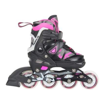 Раздвижные роликовые коньки RGX Mobilis Pink LED подсветка колес M 35-38