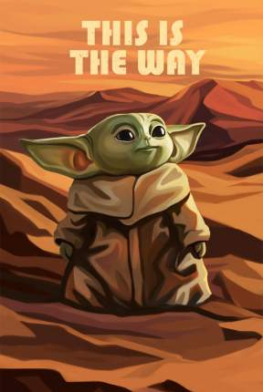 Постер Baby Yoda 40х50 в тубусе
