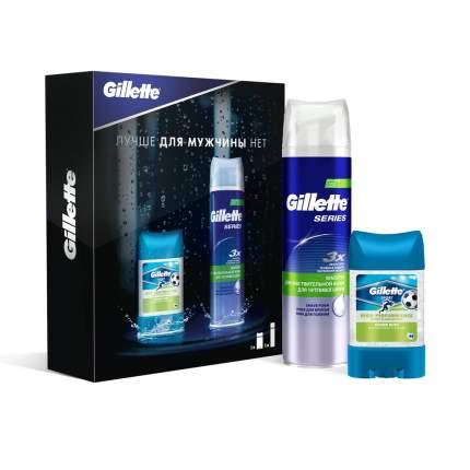 Подарочный набор GILLETTE дезодорант PwrBeads PwrRush 75мл+TGS пена д/бритья SenSkin 250мл
