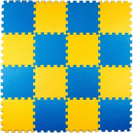 Развивающий коврик Eco Cover 25*25 см желто-синий