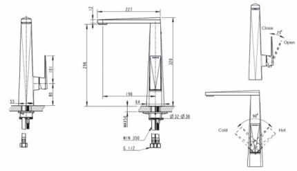 Смеситель для кухонной мойки BRAVAT F776110G-2