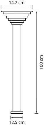 Ландшафтный столбик Lightstar 379747