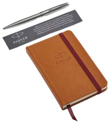Набор подарочный Parker Sonnet - Stainless Steel CT, шариковая ручка + блокнот*