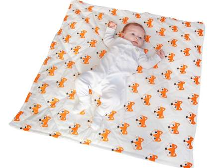 Конверт-одеяло SlingMe Лисички белый