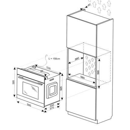 Встраиваемый электрический духовой шкаф Hansa BOEIS69407 Silver