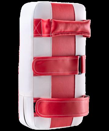 Макивара Rusco Sport, 2 ручки, кожзам, красно-белый