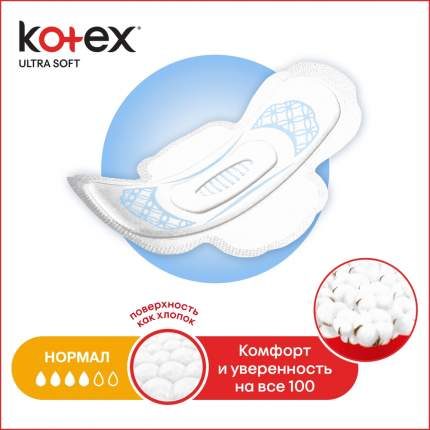 Прокладки Kotex Ultra Soft Normal 20 шт