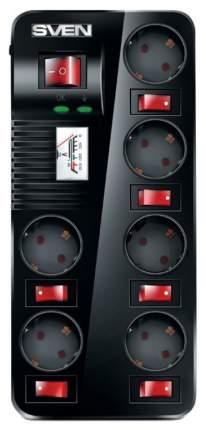 Сетевой фильтр Sven Fort Pro 1,8 м 6 розеток Black
