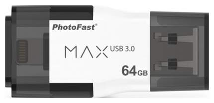 USB-флешка PhotoFast i-Flash Drive MAX G2 U3 64GB White (IFDMAXG264GB)