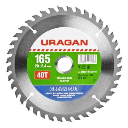 Диск по дереву для дисковых пил Uragan 36802-165-20-40