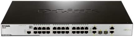Коммутатор D-Link xStack DES-3200-28P/C1A Серый, черный