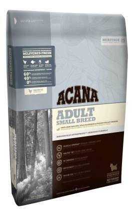 Сухой корм для собак ACANA Heritage Adult Small Breed, для мелких пород, цыпленок, 6кг