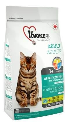 Сухой корм для кошек 1st choice Weight Control, для стерилизованных, курица, 5,44кг