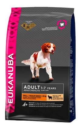 Сухой корм для собак Eukanuba Adult Small/Medium Breed, ягненок, 12кг