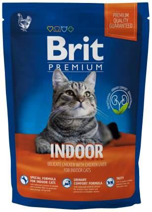 Сухой корм для кошек Brit Premium Indoor, для домашних, курица, 0,8кг