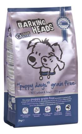 Сухой корм для щенков Barking Heads Puppy days Grain Free, беззерновой, лосось, 12кг