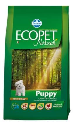 Сухой корм для щенков Farmina Ecopet Natural Puppy Mini, для мелких пород, курица, 12кг