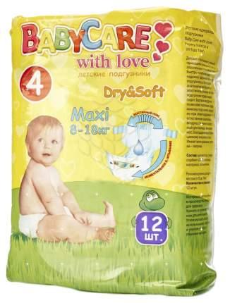 Подгузники Baby Care Dry&Soft Maxi 4 (8-18 кг), 12 шт.