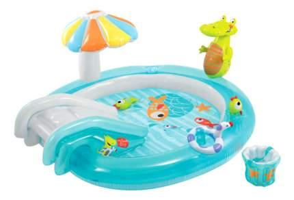 Центр-бассейн Intex надувной игровой Крокодильчик