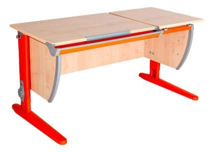 Парта Дэми Классик 120 см двойная столешница клен/оранжевая