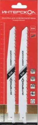 Полотна универсальные Интерскол 200х178х2.5/4.0 мм, 2 шт. (2212917800251)