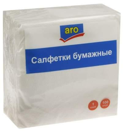 Бумажные платки Aro Однослойные 24х24 см 100 шт