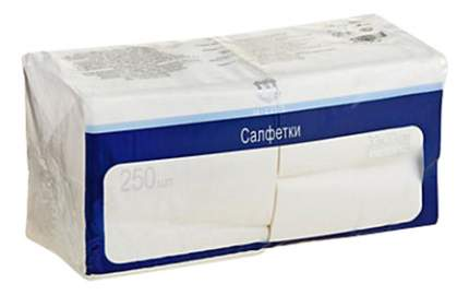 Салфетки H-Line трехслойные белые 33*33 см  250 штук