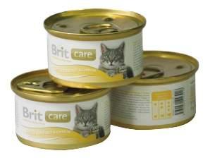 Консервы для кошек Brit Care, курица, сыр, 80г