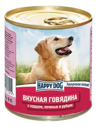 Консервы для собак Happy Dog Вкусная говядина c сердцем, печенью и рубцом, 750г