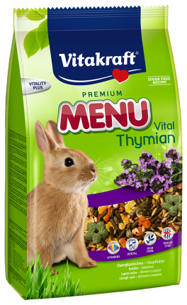 Корм для кроликов Vitakraft Premium Menu Vital 1 кг 1 шт