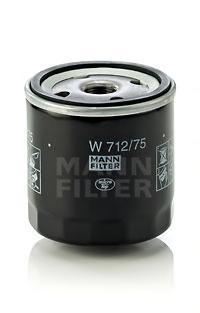 Фильтр масляный двигателя MANN-FILTER W712/75