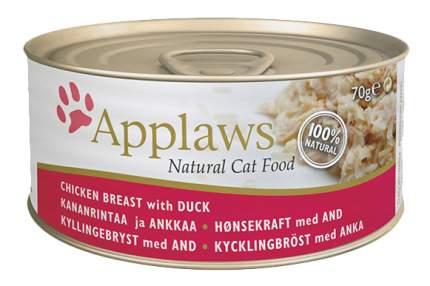 Консервы для кошек Applaws, курица, утка, 70г