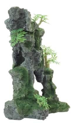 Грот для аквариума Laguna Скала с деревьями 002KD, полиэфирная смола, 23х17,5х32 см