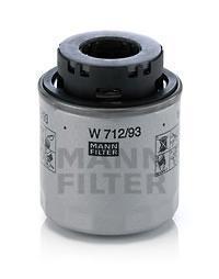 Фильтр масляный двигателя MANN-FILTER W712/93