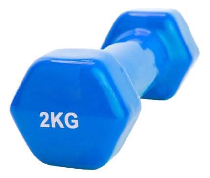 Гантель обрезиненная Bradex 2 кг синяя
