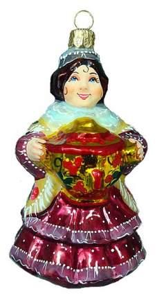 Елочная игрушка Ариель Купчиха с самоваром бордо разноцветный Арт,746