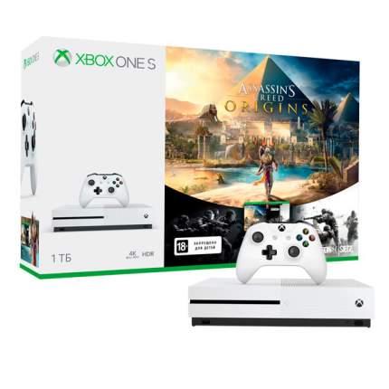 Игровая приставка Microsoft Xbox One S 1Tb+Assassins Creed Origins+TC RainbowSix Siege