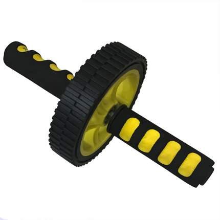Ролик для пресса двойной F18504 black/yellow