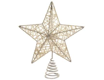 Верхушка Kaemingk Звезда Ажурная 20 см белая 389623