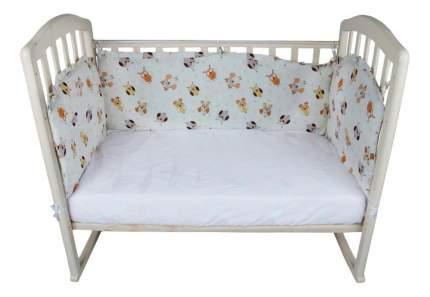 Текстильный бортик для кроватки Alis Борт в кроватку 360 х 40 бежевый