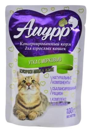Влажный корм для кошек Амурр, морковь, утка, 100г
