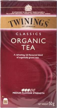 Чай черный Twinings organic 25 пакетиков