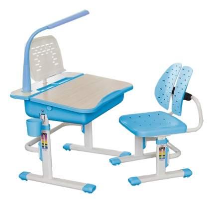 Комплект детской мебели Mealux Парта и стул EVO-03 с лампой голубой