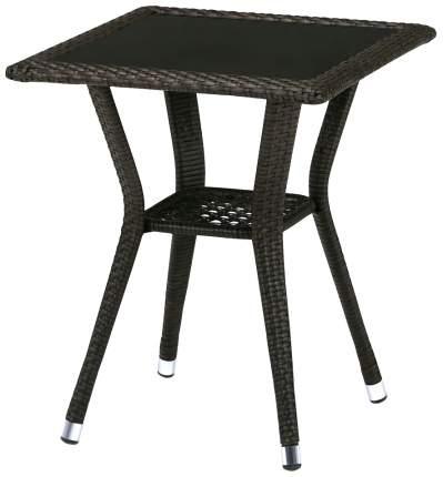 Стол Afina T25-W53-50x50 Brown из искусственного ротанга