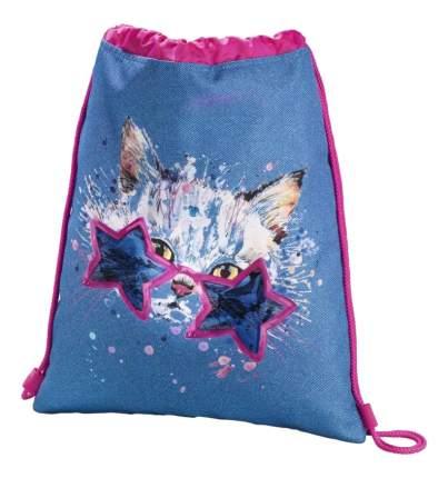 Мешок для обуви Hama Crazy cat синий/розовый 00139112