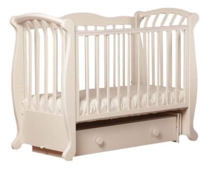 Кровать детская Лель БИ 555.2 Магнолия маятниковая поперечная слоновая кость